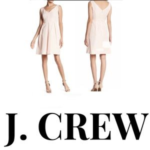 J. Crew Kami Classic Faille Dress in shell pink!